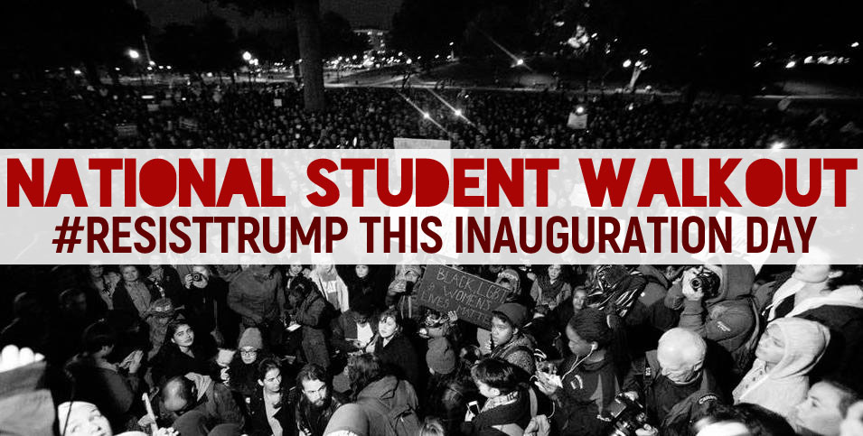 Student Walkout on Trump Inauguration Day!